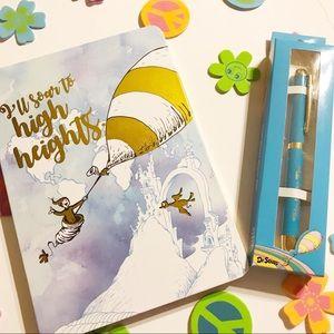 Only 1 set left Dr Seuss journal and charm pen set